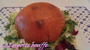 Dôme de rillettes saumon-crabe