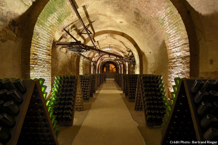 les caves du Domaine Pommery