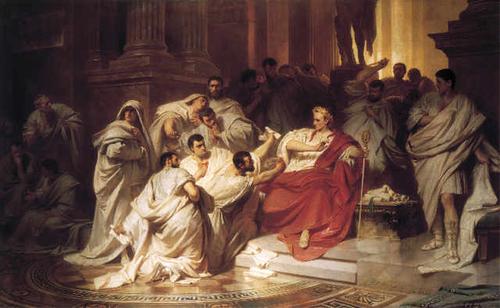 La mort de César...