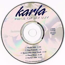 KARLA - PIECE OF MY LOVE (CDM 1994)