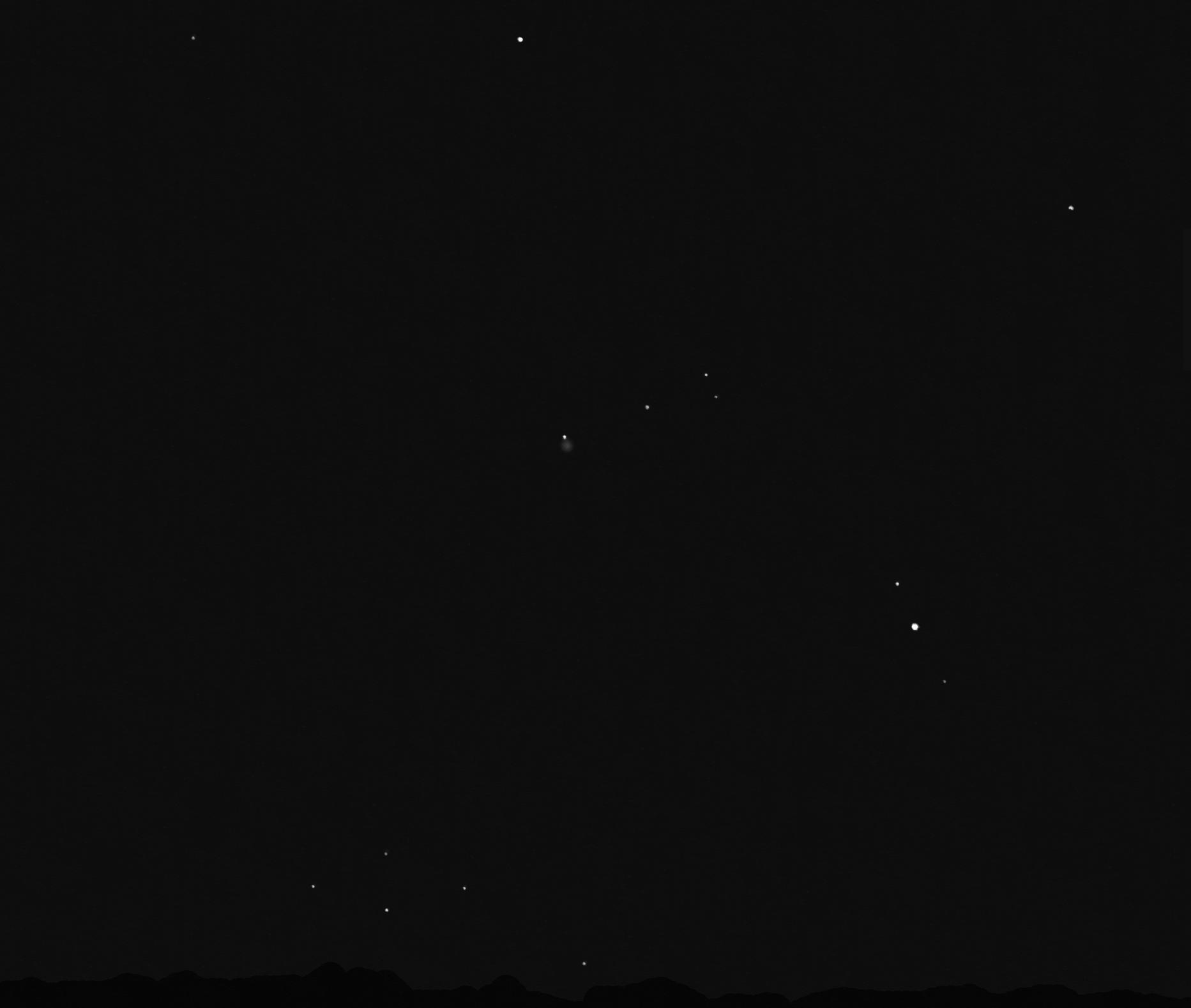 comète Hale Bopp à l'oeil nu