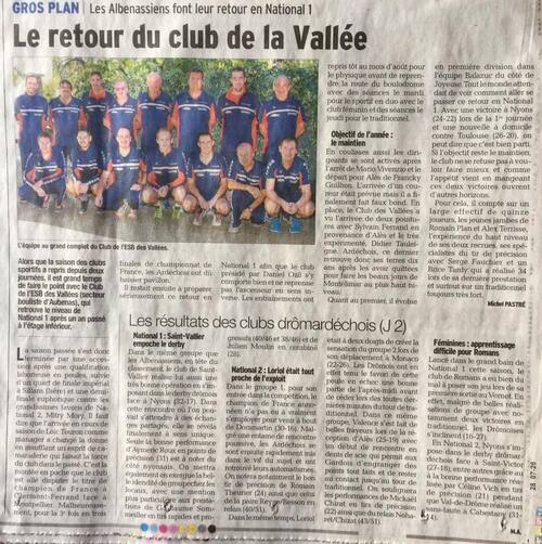 le retour du clubs des vallees