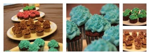 Minis cupcakes au chocolat