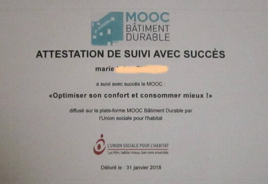 MOOC - optimiser son confort et consommer mieux.