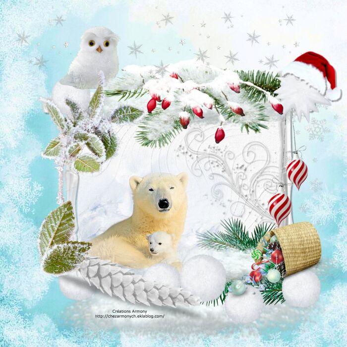 Super Tag de Noël + Cluster + Fond 3
