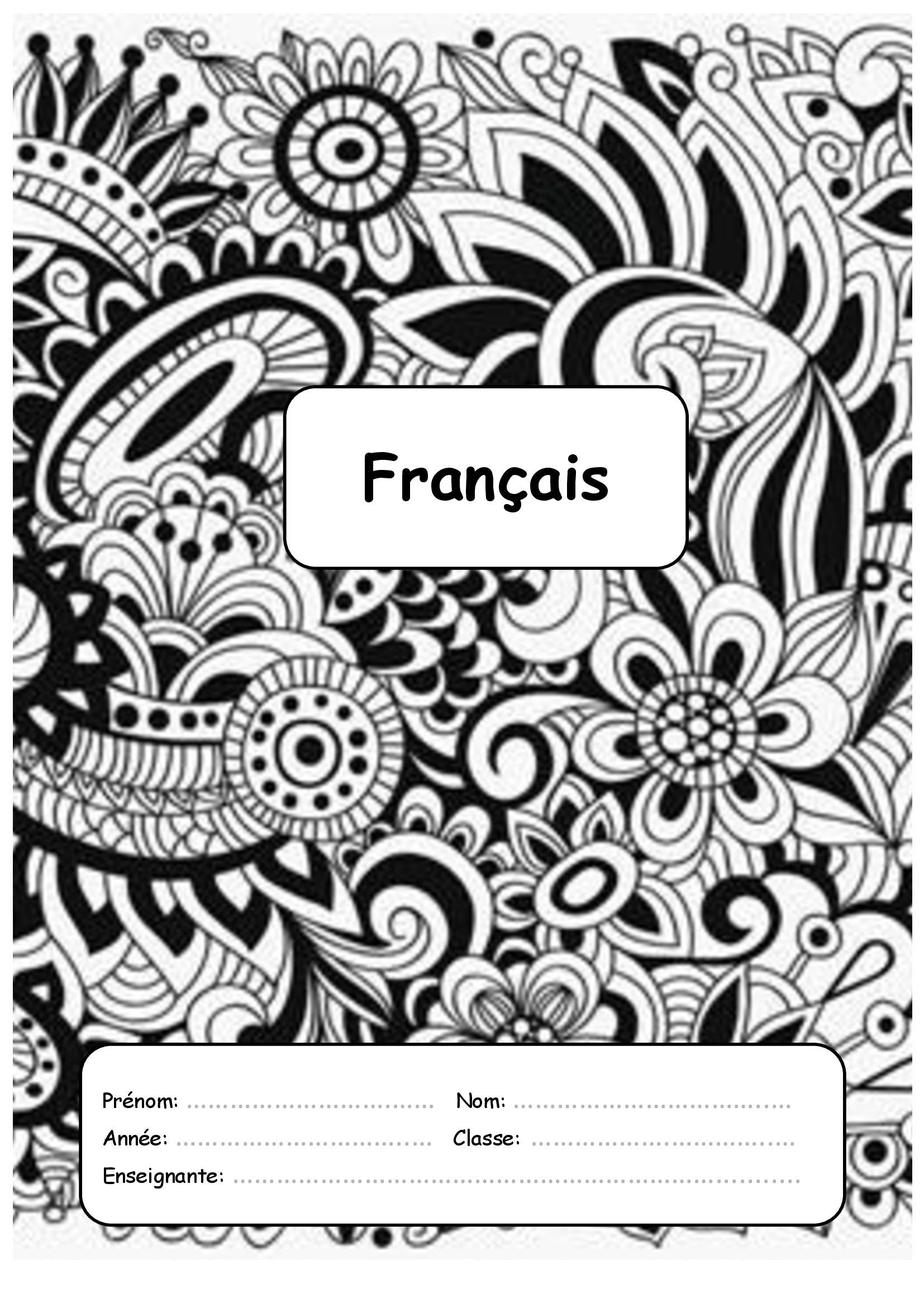 Mes pages de garde ce2 cm1 tous mes classeurs - Cahier de coloriage gratuit ...