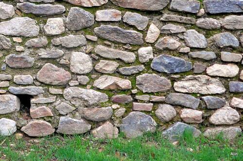 Un mur de terrain en terrasse
