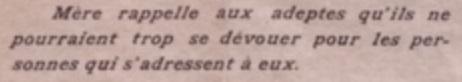 Avis de Mère dans un Unitif de 1914