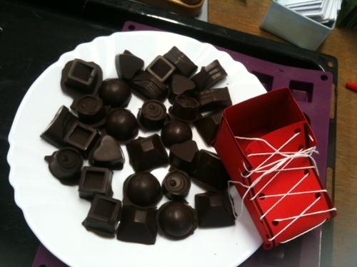 Cuisine: chocolats de Noël