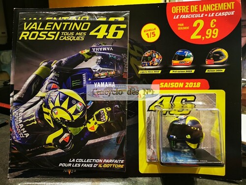 N° 1 Tout mes casques Valentino Rossi - Test