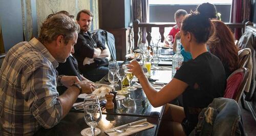 Rencontre entre comédiens français