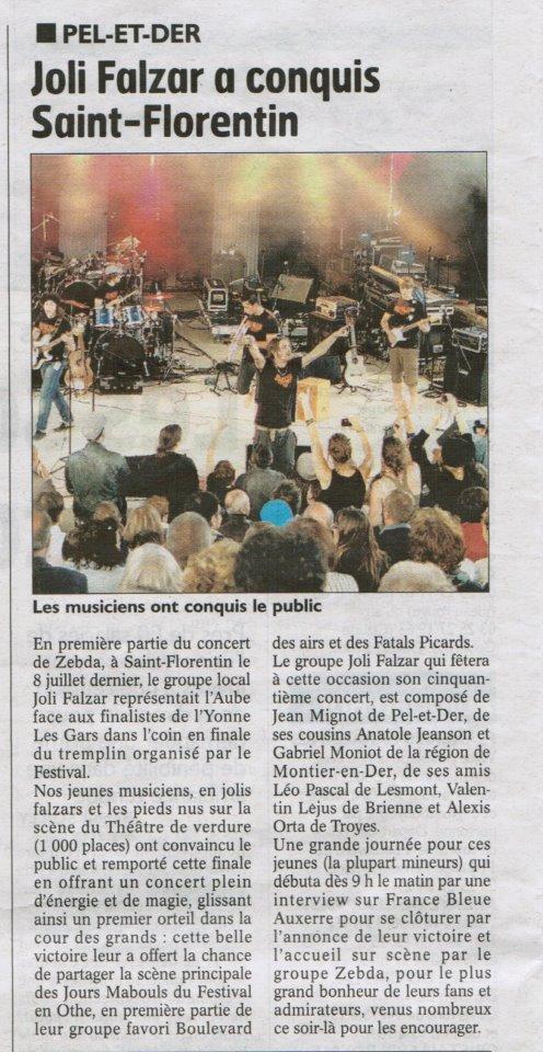 Articles dans la presse Juillet 2012