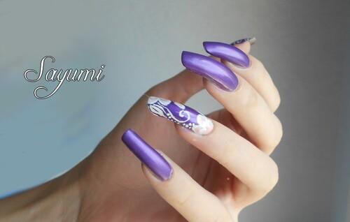 Nail Art Rose et Violet