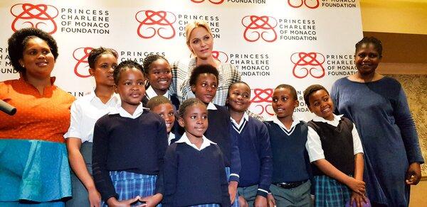 Charlène en Afrique du Sud pour sa fondation