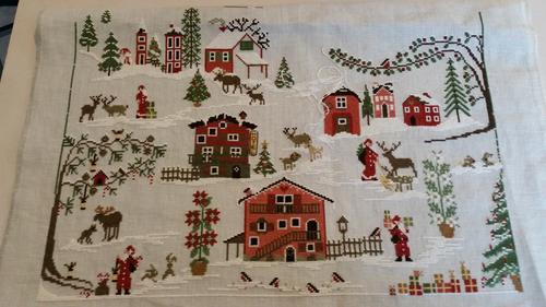 Christmas Village l'avancée de Claudine M.