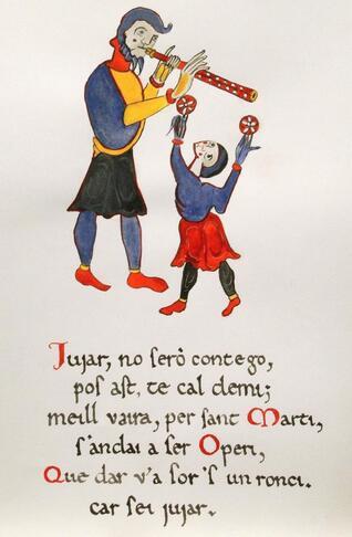 "jongleurs :  ""tenso"" Raimbaut de Vaqueiras"