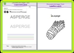 Graphisme - Ecriture au jardin