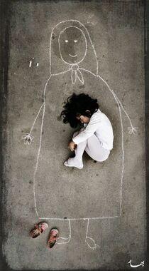 I love you. Familie/mama tekenen met stoepkrijt - foto: moederdagcadeau?: