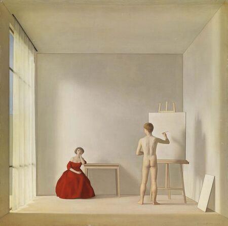 Antonio Bueno (1918-1984), The Painter and the Model, 1952