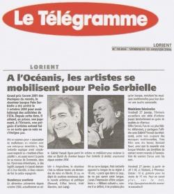 A l'Océanis, les artistes se mobilisent pour Peio Serbielle