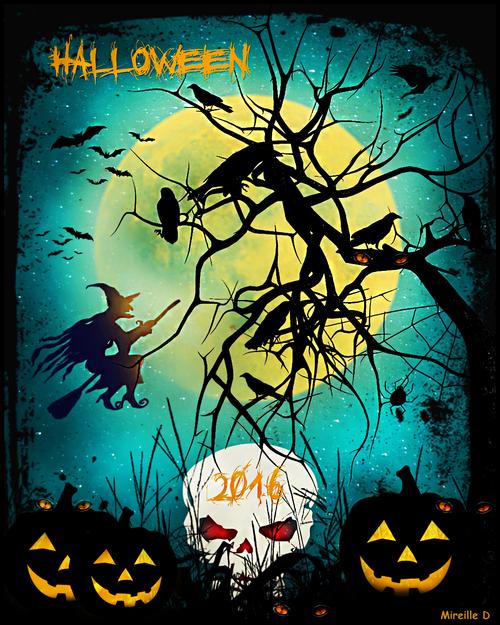 Pour Fêter Halloween (Carte)