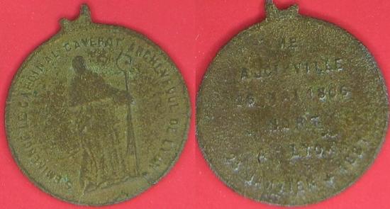 Médaille Cardinal Caverot 1806 1887