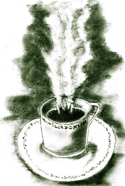 Dessin Tasse De Café Fumant tasse de café fumant - chouquette14