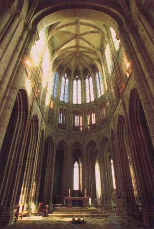 Le mont Saint Michel : L'abbaye