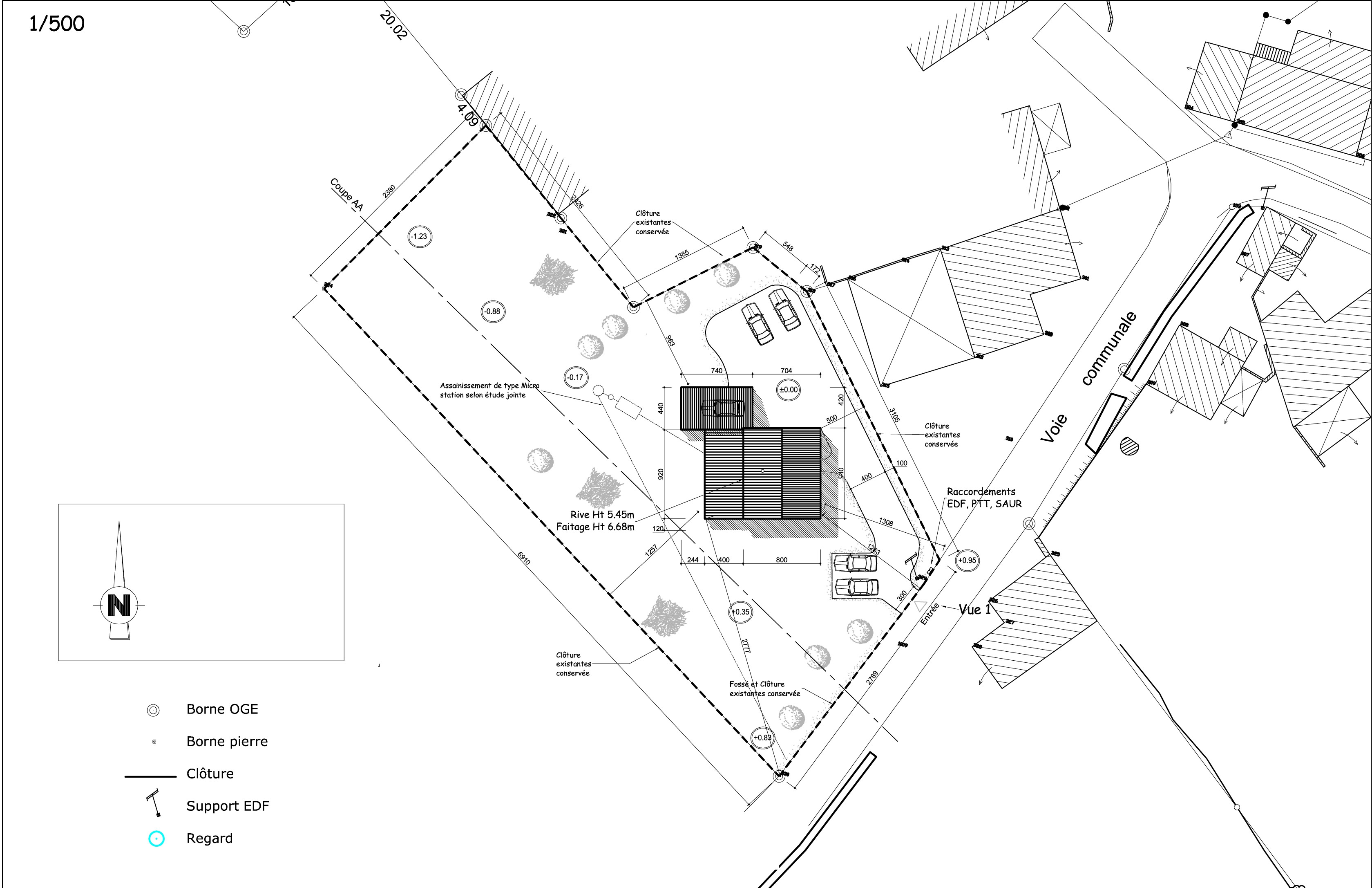 Plan de masse m o b paille 49 for Plan dessin