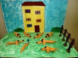 """Arts visuels """"un monde à lire"""" : Pilou le chien roux, Le Noël de kimamila"""
