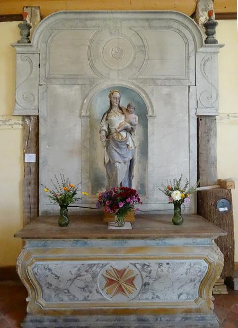 L'église Saint-Quentin, à pans de bois, de Mathaux