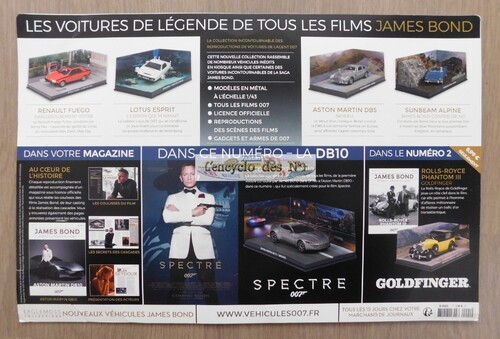 N° 1 Voitures et véhicules de légende James Bond - Test