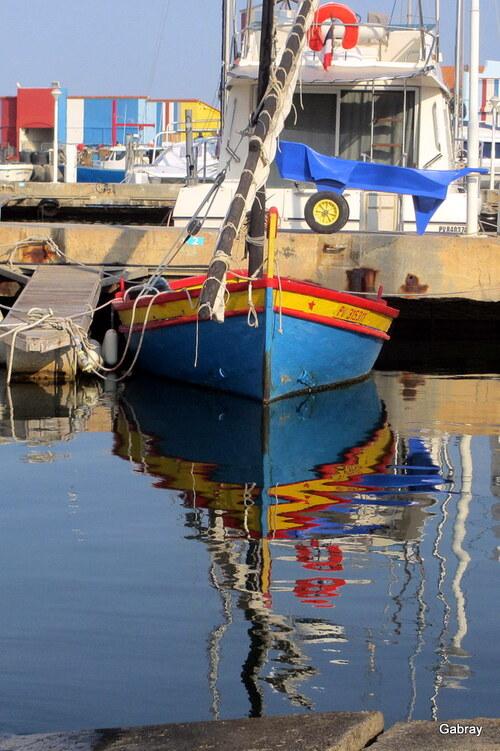 Le Barcarès: reflets au port!