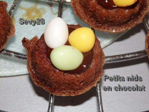 Petits nids en chocolat