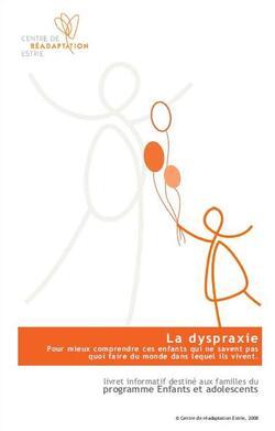 Qu'est-ce que la dyspraxie ? Livret d'information