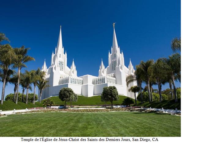 29 ter- Temple de l'Église de Jésus-Christ des Saints des Derniers Jours, San Diego, CA  (29e de la série des 50 belles églises dans le monde)