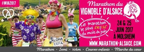 Marathon du Vignoble d'Alsace - Molsheim - Dimanche 25 juin 2017