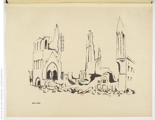 Ypres - Mars 1916 - André Mare, Dessins faits aux armées (gallica)