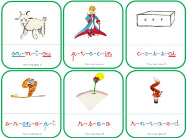 Le Petit Prince : dictée, associer mot-image, nomenclature
