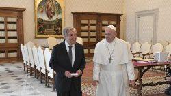 Le Pape François a reçu le secrétaire général de l'ONU Antonio Guterres