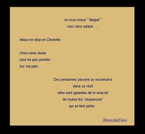 Circonstances . texte de présentation  La nuit du centaure .