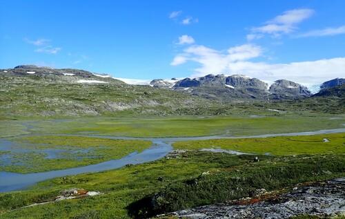 J6 - Soleil sur le Hardangerjøkulen
