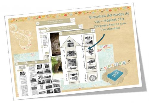 evolution mode vie CE1 - habitat