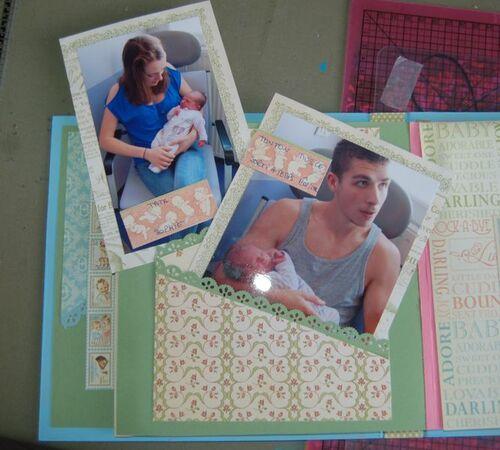 L'album de la maternité est terminé .....