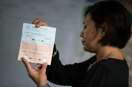 Dépouillement dans un bureau de vote de Bangkok, le 7 août 2016 © BORJA SANCHEZ-TRILLO AFP