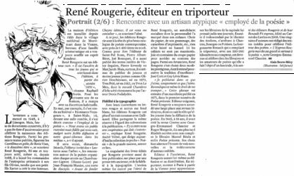 René Rougerie, éditeur en triporteur