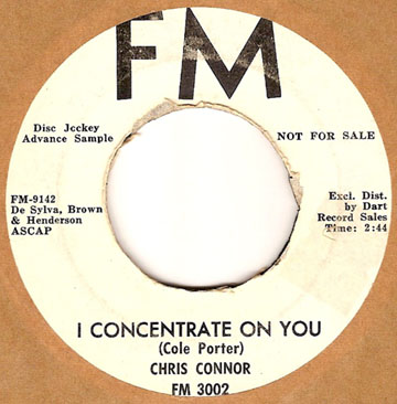 CHRIS CONNOR - i concentrade on you