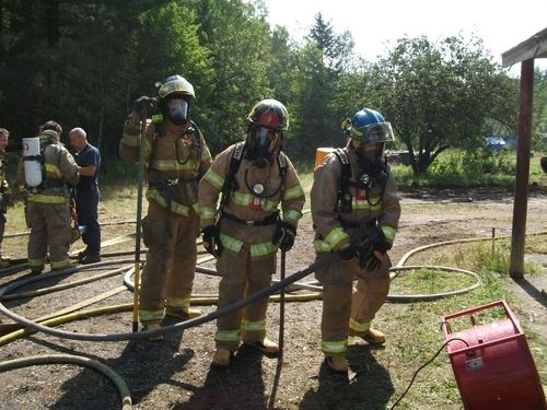 Galerie photos simulation d'incendie le 13 Août 2011 dans le rang 10 à Sainte-Cécile de Whitton
