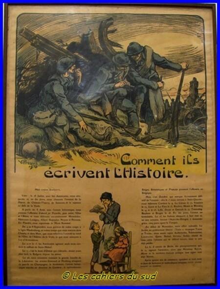 Celles et ceux de la guerre de 1918...