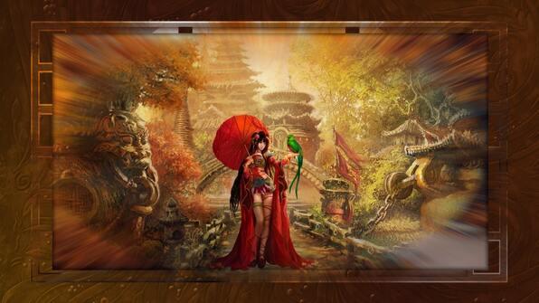automne femme asie